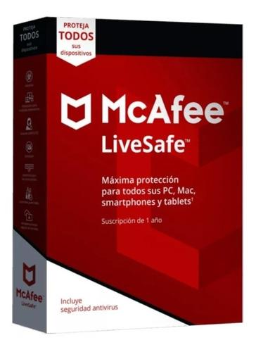 Antivirus McAfee LiveSafe 10 Dispositivos Por 1 Año